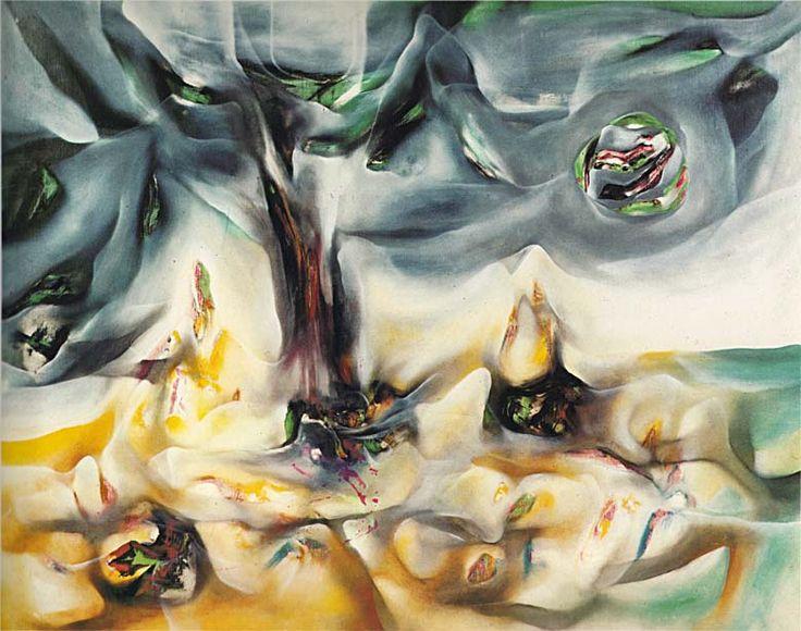 """Endless Nudes""  1942 (42/4)  72.4 x 92 cm.  Roberto Matta"