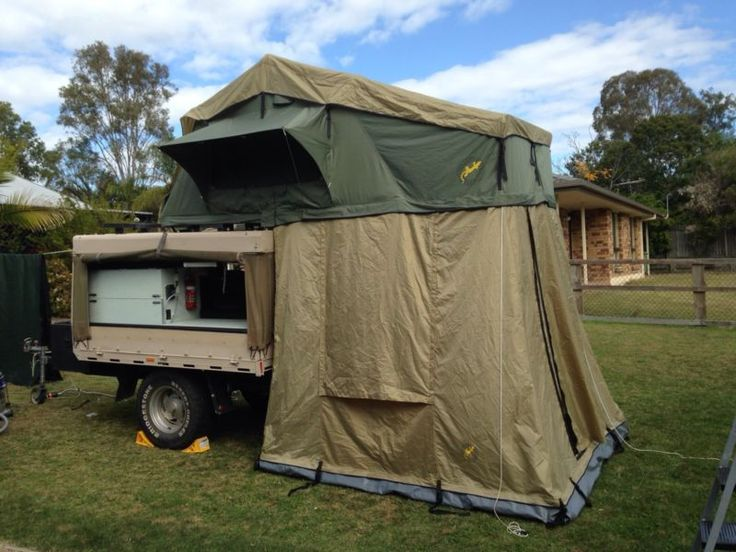 Popular Homebuilt Camper Trailer Popup Tent Propane Etc