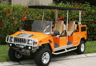 H2 hummer golf cart this cool h2 hummer golf cart looks for Narrow golf cart