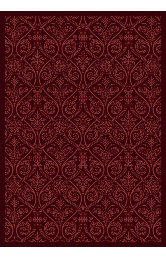 Joy Carpets Any Day Matinee Damascus Burgundy Rug