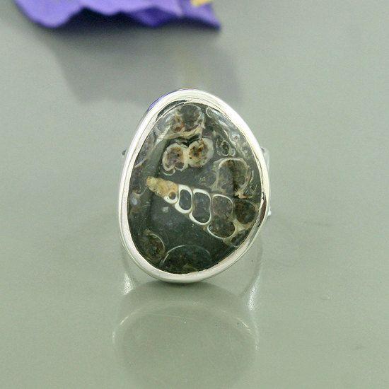 Fossili Turritella agata pietra preziosa 925 di Silvergem2014