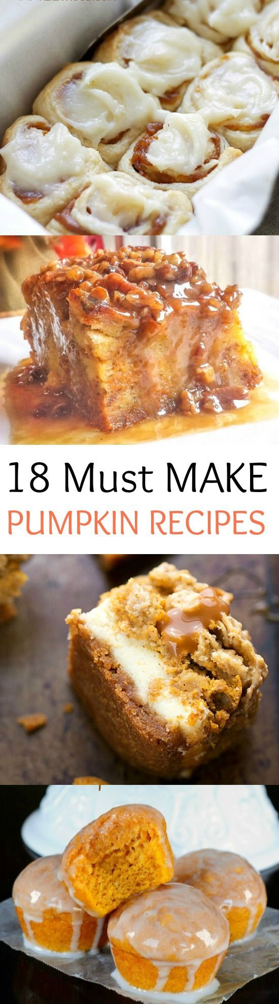 The Most Spectacular Pumpkin Recipes EVER! Thanksgiving Desserts Christmas…