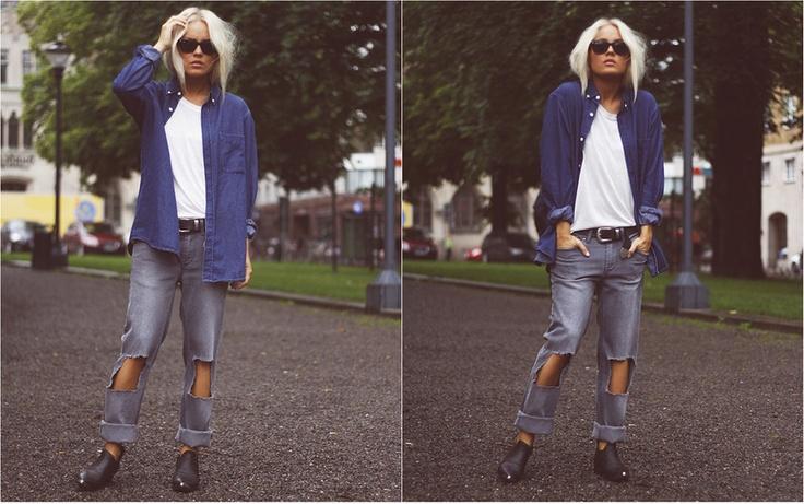 Cutout Jeans.: A Mini-Saia Jeans, Outfits Jeans, Cutout Jeans
