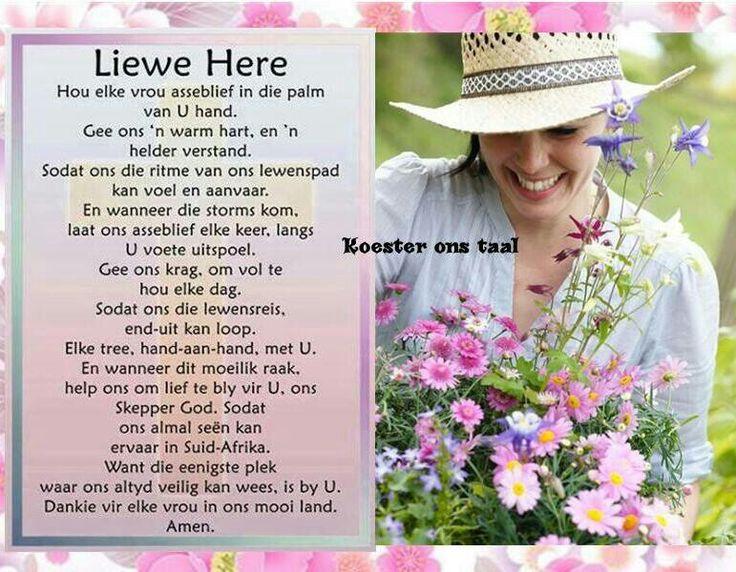 Liewe Heer, hou elke vrou in die palm van U hand...