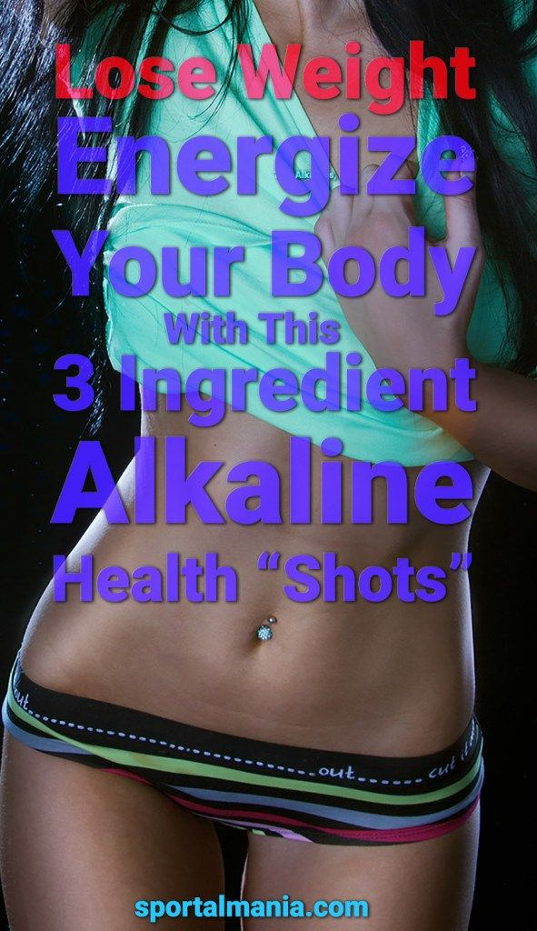 "3-Ingredient Health ""Shots"" To Alkalize Your Body, Lose Weight And Energize Your Body"