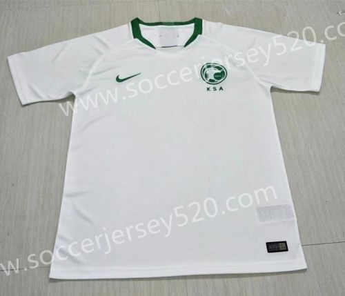 low priced f7ff8 c26fb 2018 World Cup Saudi Arabia Home White Thailand Soccer ...
