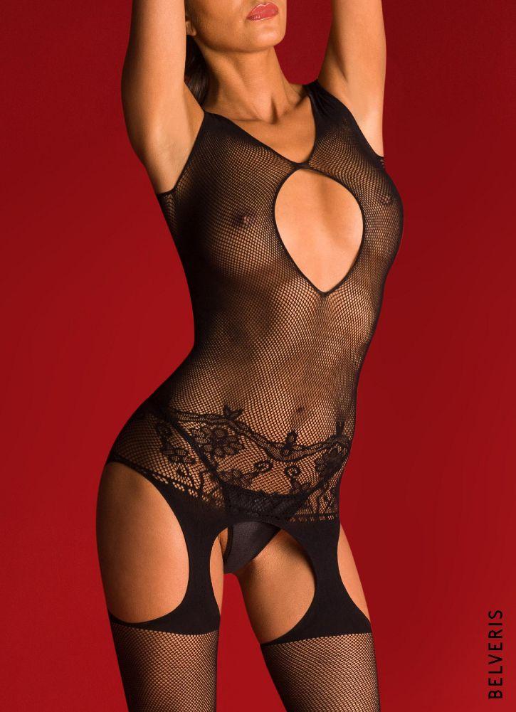 Erotikwäsche von BELVERIS. Netz-Bodystocking.