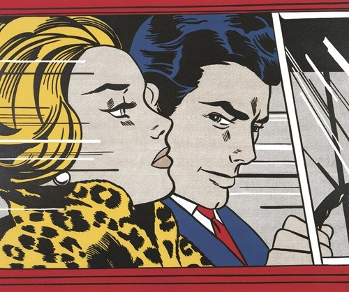 in the car by roy lichtenstein the expansion of scale in litchenstein 39 s work could be. Black Bedroom Furniture Sets. Home Design Ideas