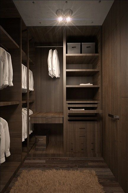 Small space claustriphobia why this small closet 39 s lines - Closets for small spaces ...