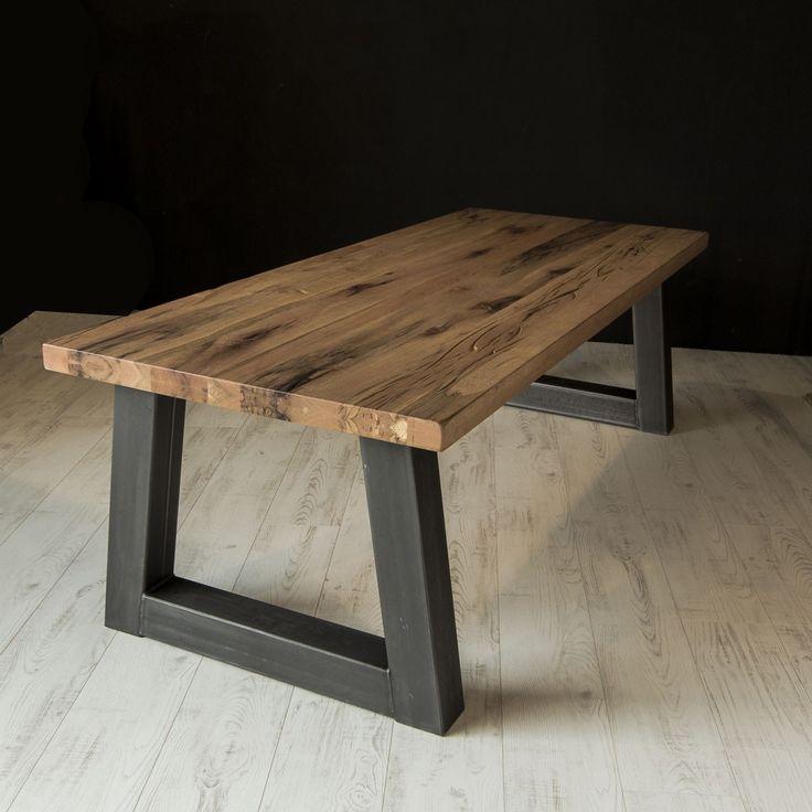 ... Eettafels op Pinterest - Moderne tafel, Tafelpoten en Stalen meubelen