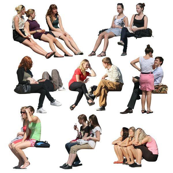 Sitting people png tex... ...