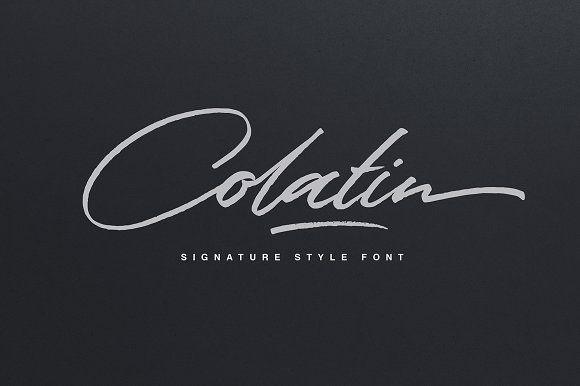 Colatin Script by Get Studio on @creativemarket