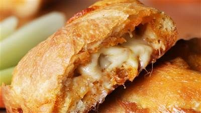 Buffalo calzones, If you like wings, you're going to love these Buffalo chicken calzones