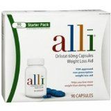 Alli Weight-Loss Aid, Orlistat 60mg Capsules, 90-Count Starter Pack
