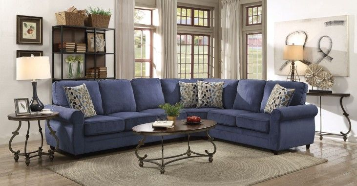 Kendrick Blue Raf Sectional Living Room Furniture Sale Sectional Sleeper Sofa Home Decor