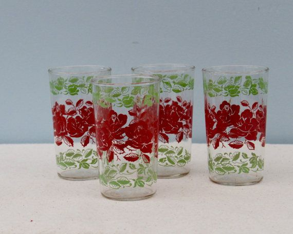 Vintage Pyrex Rose Glassware by HauteVintageMarket on Etsy