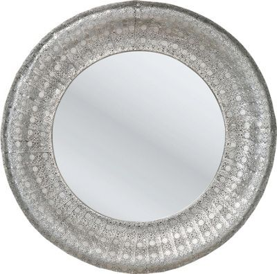 """Der wunderschön verzierte Spiegel """"Orient"""" ist eine Augenweide! Als runder…"""