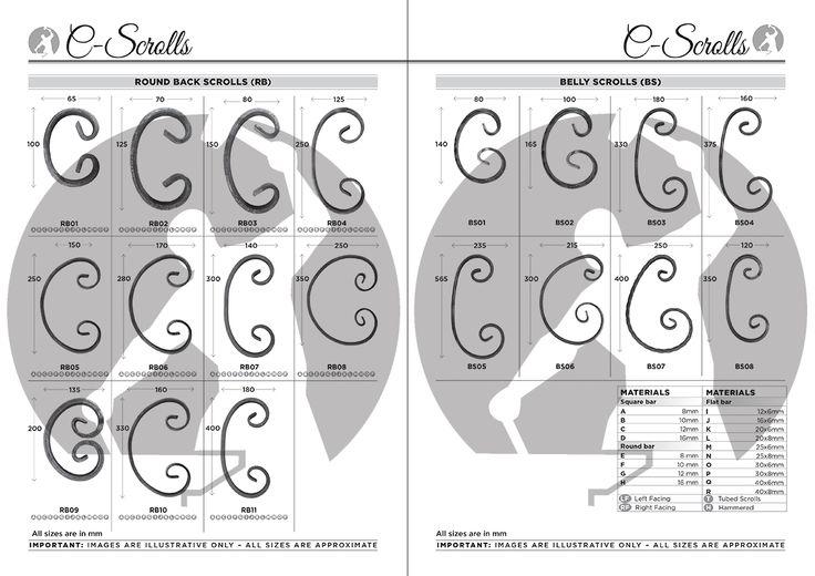 Round Back & Belly C Scrolls