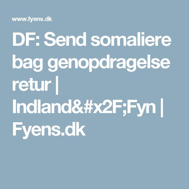 DF: Send somaliere bag genopdragelse retur | Indland/Fyn | Fyens.dk