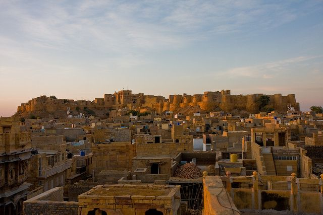 The amazing Jaisalmer Fort is India's only 'living fort', meaning people actually live and work inside its walls