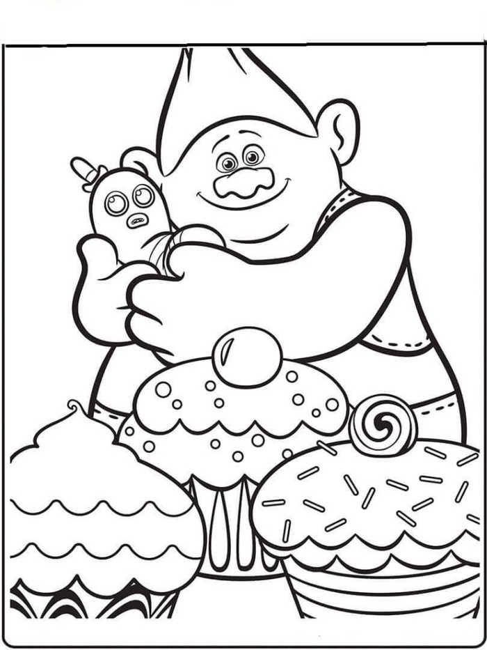 Trolls Mr Dinkles Coloring Pages Designs Collections