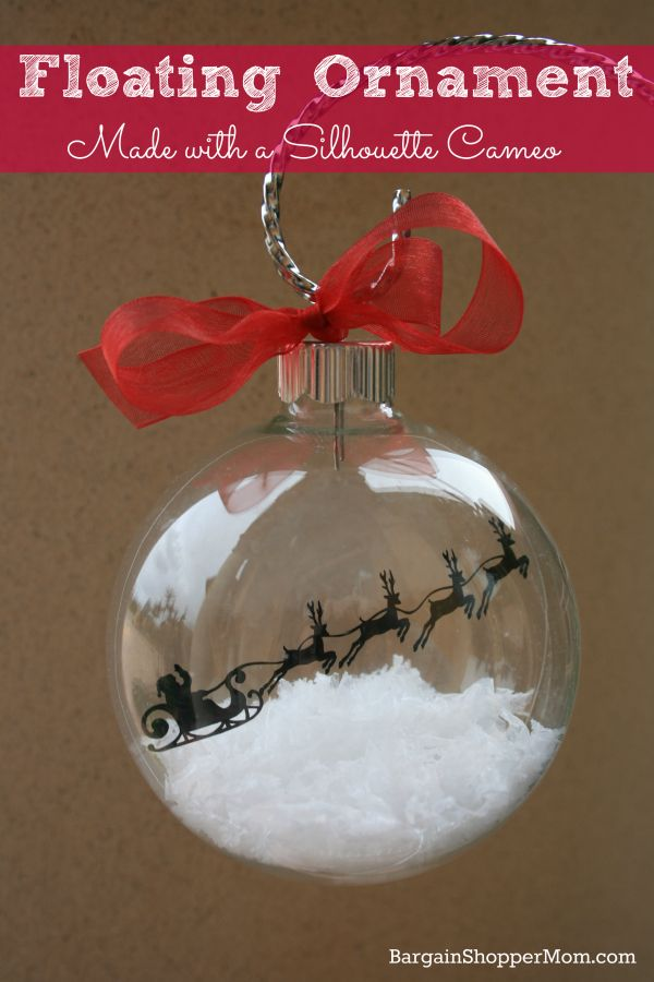 Floating Ornament Made with a Silhouette Cameo