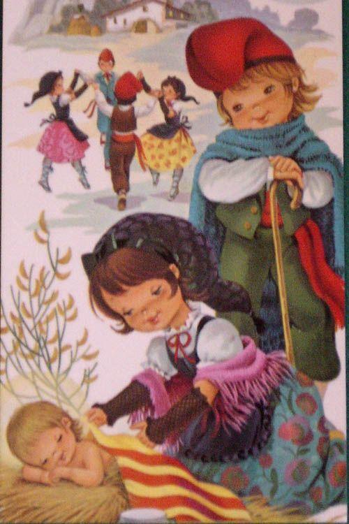 Vintage postal de Nadal a Catalunya (by Ferrándiz)