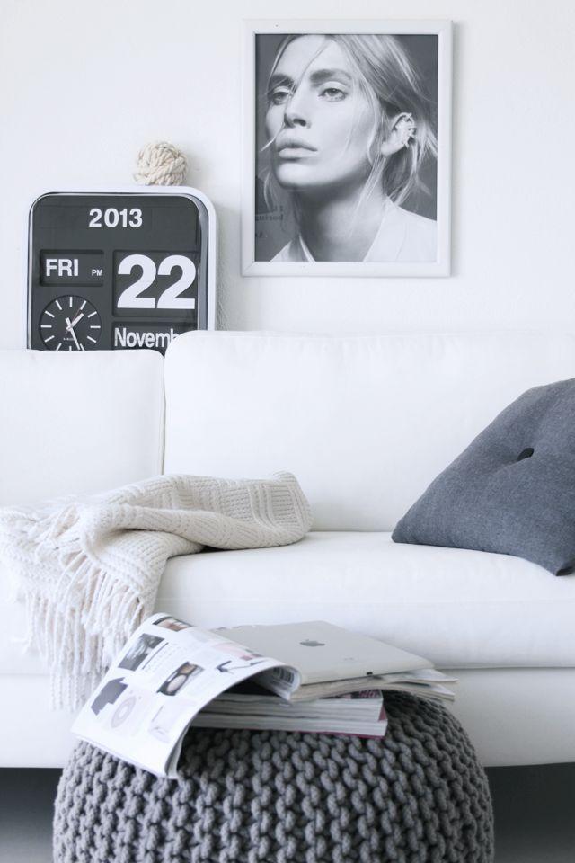 Via Ale Besso | Karlsson Flip Clock | HAY | Grey and White