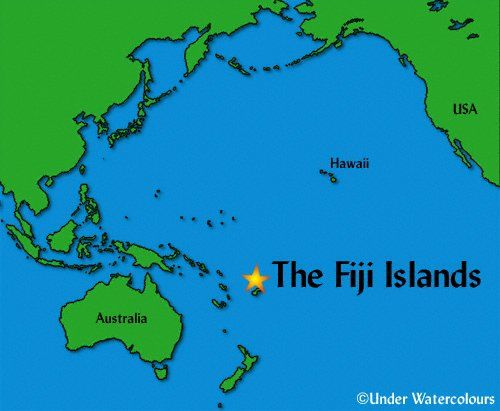 Fiji Islands World Map Location Timekeeperwatches - Australia location on world map