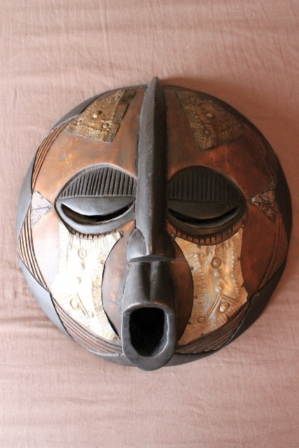 African Large  Hand carved Wood Mask