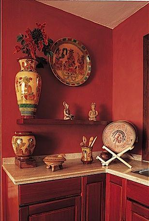 Warm, wonderful mexican kitchen. Cocinas Mexicanas Tradicionales - All photos © Melba Levick