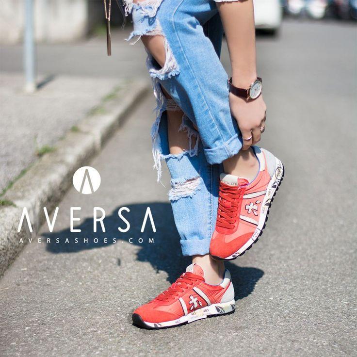 Premiata Sneaker pelle + tessuto aragosta