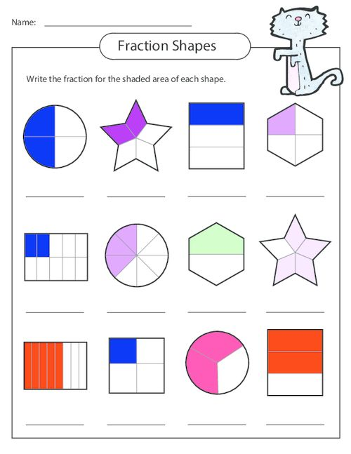 ... worksheets, and then see if they can create their own fraction shapes