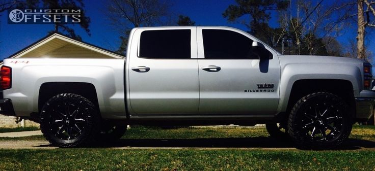 2014 Chevrolet Silverado 1500 Hostile Alpha Top Gun Customz Leveling Kit