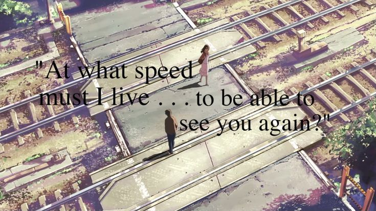 5 Centimeters Per Second. One of the best anime movies EVER!
