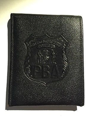 Vintage Wallet City of New York Police PBA w Membership Card 1960s Rare Shields
