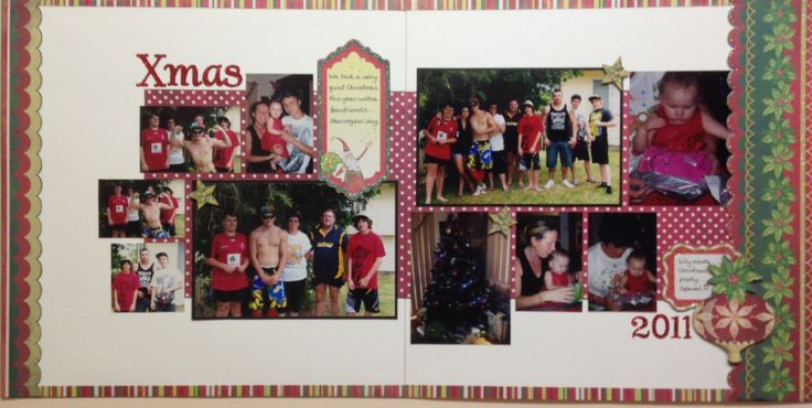 A second LO from JulieD this month. A wonderful double Christmas layout with lots of photos to spark memories for Julie's family.