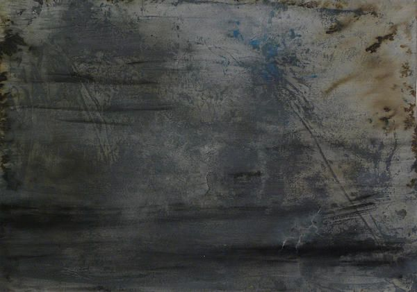 This is number one in a series of mixed media works done on paper. It has a dark, distressed post apocalyptic feel.