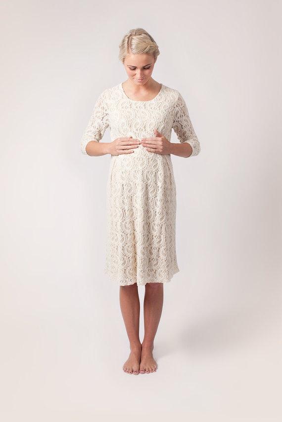 Cream Maternity Romance Dress by alicebmaternity on Etsy, €109.00