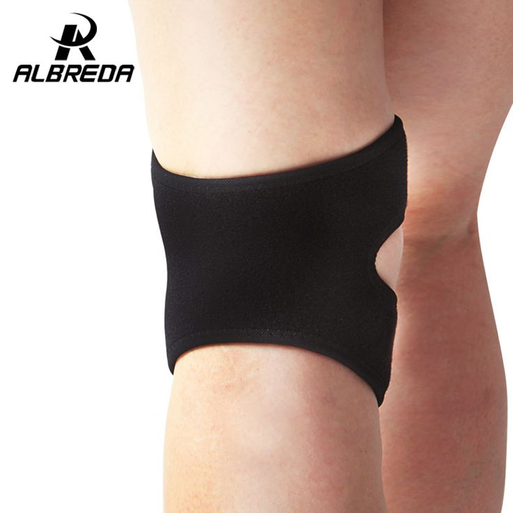 ALBREDA elastic patella support adjustable knee sliders band protector basketball volleyball kneecap Sports Safety SPorts PAds #Affiliate