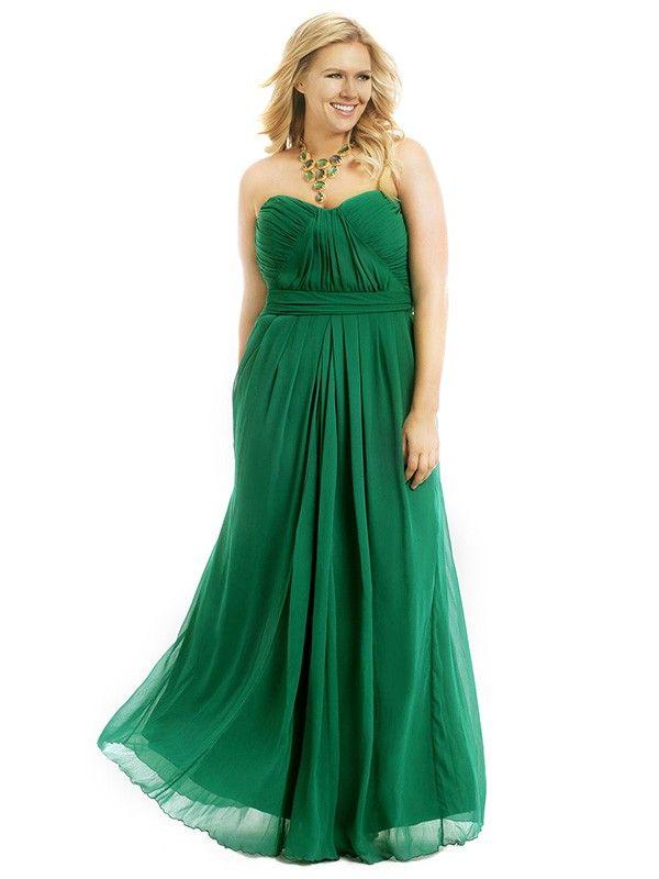 Grün Abendkleid Große Größen