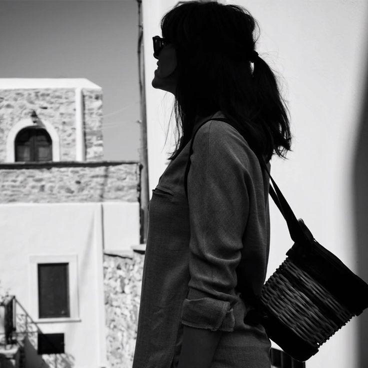 Handmade Basket Leather Backpack - Greek Designers - Greek Culture - Island Life - Stylish Outfit - Fashion