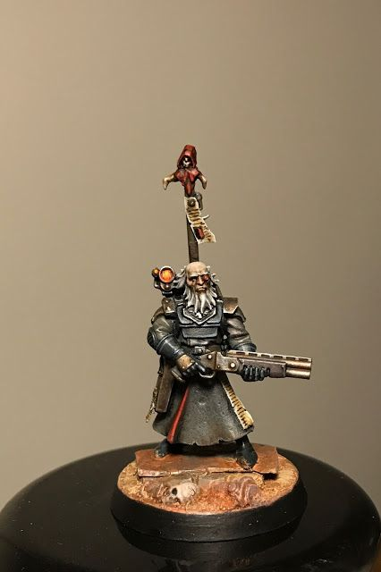 An old gnarled enforcer from a backwater planet, dishing out his own brand of frontier justice. By Jeff Vader, of The Convertorum. Inquisitor, Inquisimunda, Inq28, Necromunda, WH40K