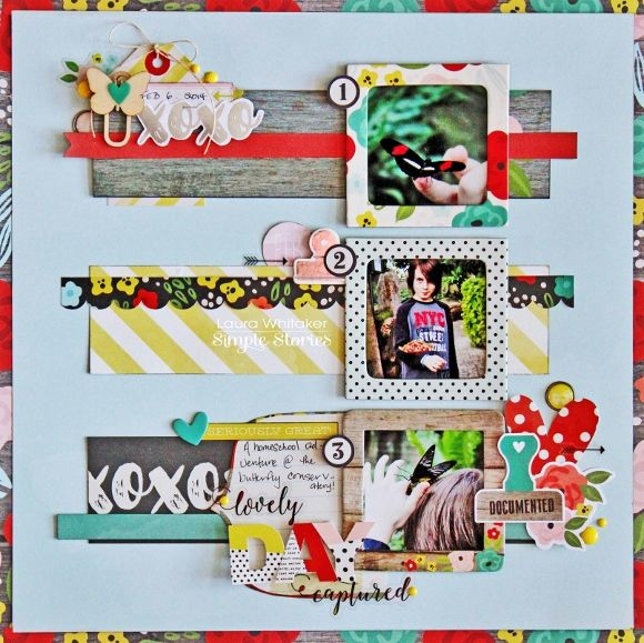 #papercrafting #scrapbooking #layouts - by Laura Whitaker