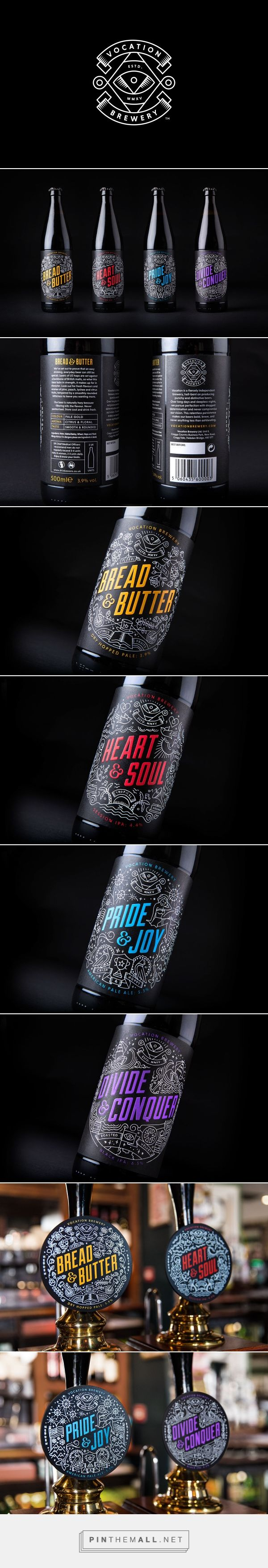 Vocation Brewery on Behance by Robot food curated by Packaging Diva PD. Love this fun colorful beer packaging.