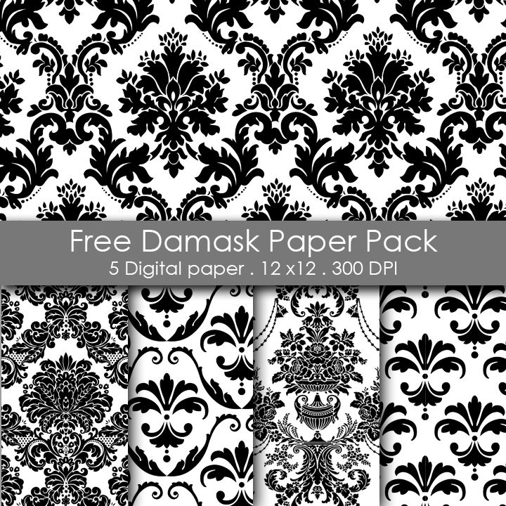 Free Printable Damask Paper Pack Categories: Flourish ...