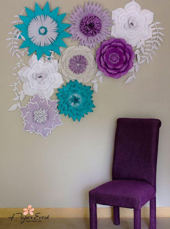 Telón de fondo de flor flor de papel gigante por APaperEvent