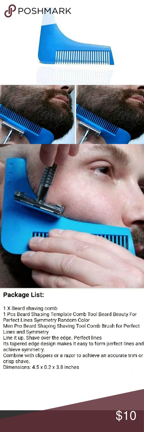 🔴Last Chance🔴Perfect Beard Edge Up Shaper Tool🔴 New in package Color : Blue or Yellow See last picture for item details boutique  Accessories