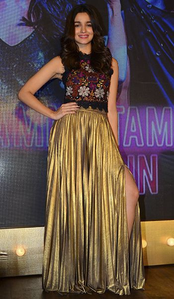 Alia Bhatt in a Label by Ritu Kumar ensemble