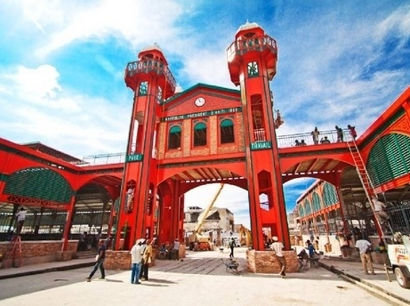Port au Prince Historic Iron Market (Le Marche en Fer) Rebuilt Just One Year After the Earthquake That Devastated It